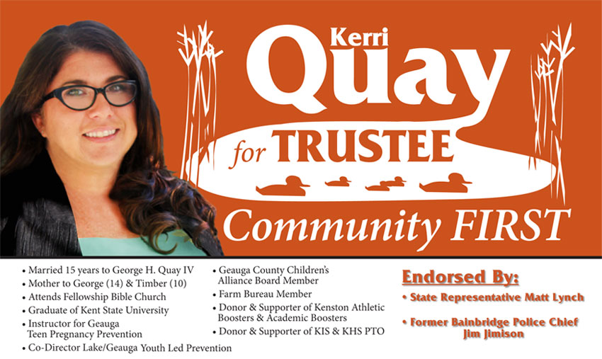 Karen Quay for Auburn Township Trustee 2013